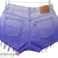 Vintage LEVIS Purple OMBRE Dip Dye Denim by KaleidoscopeEyesVtg