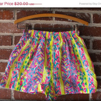 Neon Tribal Print Swim Shorts Running Shorts