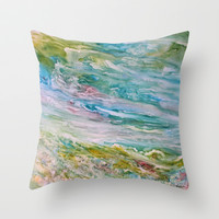 Reflections Throw Pillow by Rosie Brown