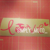 Marine Love Decal