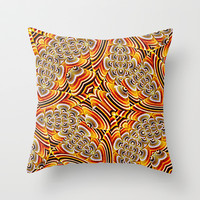 Alien Seed Texture Throw Pillow by Danflcreativo