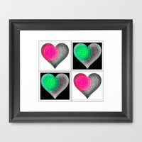 Heart Art Framed Art Print by Jensen Merrell Designs