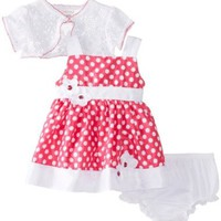 Youngland Baby-Girls Newborn Dot Shrug Dress