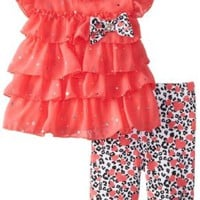 Little Lass Baby-Girls Newborn 2 Piece Chiffon Set Disco Dots
