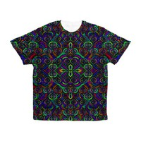 Sweet psychedelic hearts. full print t-shirt
