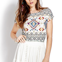 Easy Tribal Print Sweater