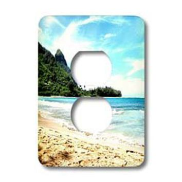 Patricia Sanders Hawaii - Hawaii beach - Light Switch Covers - 2 plug outlet cover