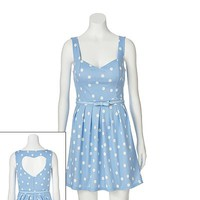 Candie's® Polka-Dot Heart Cutout Dress - Juniors