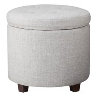 Threshold™ Round Tufted Storage Ottoman - Yellow/White