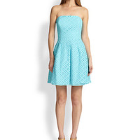 Caitlin Embroidered-Lace Dress