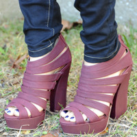 Get A Head Start Heels: Red Violet | Hope's