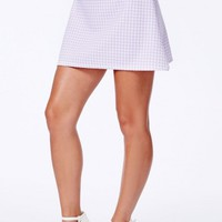 Missguided - Petricia Dogtooth A-Line Skirt In Lilac