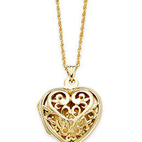 Giani Bernini 24k Gold over Sterling Silver Necklace, Filigree Heart Locket
