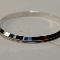 Sterling silver triangular bangle