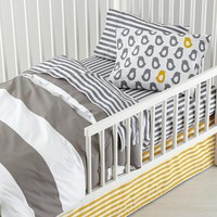 New School Toddler Bedding (Widest Stripe)