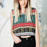 Minkpink Folk Frenzy Sleeveless Top - Urban Outfitters