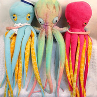 Customize Your Plush Octopus Now with FREE LOVE red by deelind