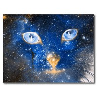 Beautiful Cosmic Kitty - Stars Postcard