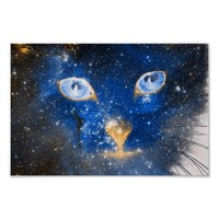 Beautiful Cosmic Kitty - Stars Poster Art