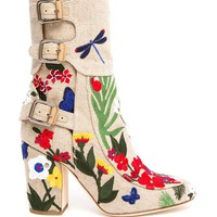 LAURENCE DACADE | Merli Embroidered Canvas Boot | Browns fashion & designer clothes & clothing