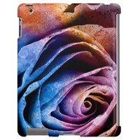 Colorful Acrylic Textured Rose iPad 2,3,4 Case