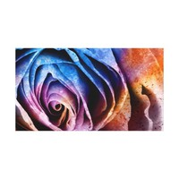 Colorful Acrylic Textured Rose Canvas Art