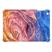 Pretty Colorful Painted Rose iPad Mini Case