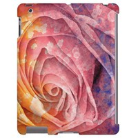 Pretty Colorful Painted Rose iPad 2,3,4 Case