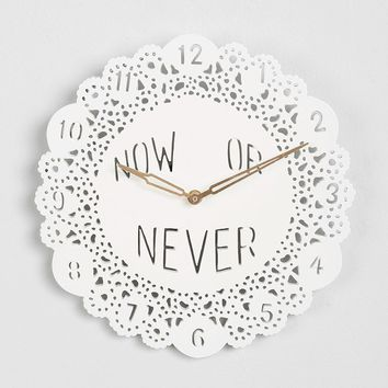 Plum & Bow Now Or Never Clock - Urban Outfitters
