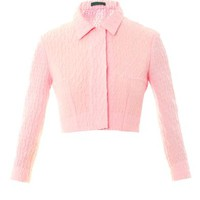 EMILIA WICKSTEAD Kristie textured-crepe jacket