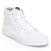 Vans Sk8 Hi True White Canvas Skate Shoes