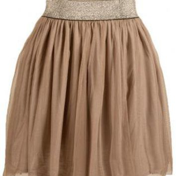 brown mini skirt khaki color pleated from ustrendy skirts