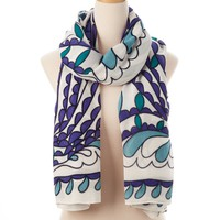 White Multi Aruba Wearable Art Scarf - New Arrivals - Shop | Theodora & Callum