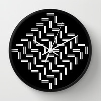 Balancing Act Wall Clock by Fringeman Abstracts