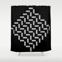 Balancing Act Shower Curtain by Fringeman Abstracts