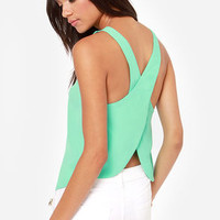 Love is Alive Mint Top