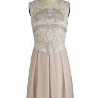 ModCloth Vintage Inspired Mid-length Sleeveless A-line Ornate Entrance Dress