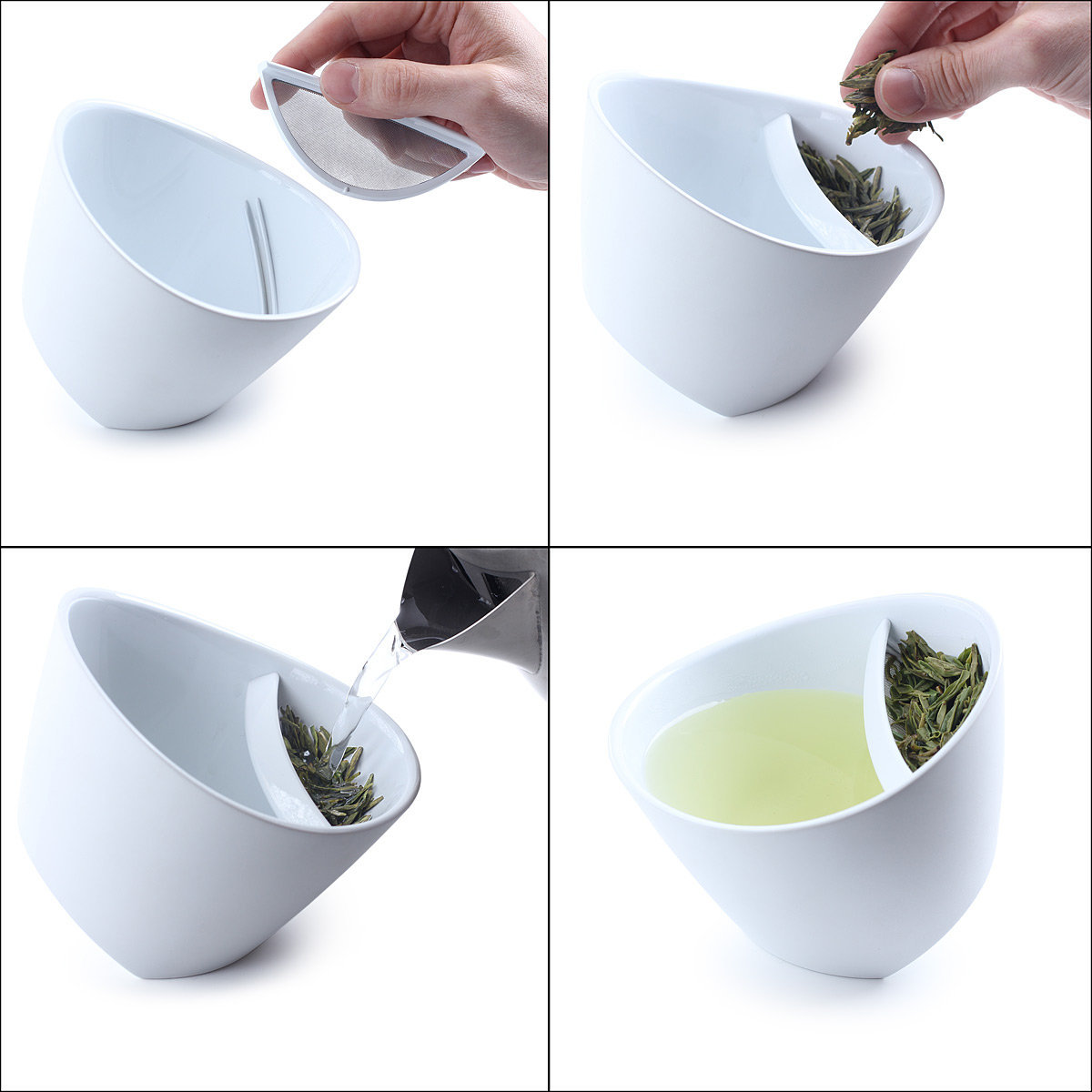 TIPPING TEACUP | Tea Infuser Mug, Glass | UncommonGoods