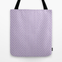 Lavender Dots Tote Bag by Allyson Johnson