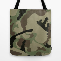 CAMO PATTERN Tote Bag by Allyson Johnson