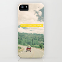 NEVER STOP EXPLORING iPhone & iPod Case by Leslee Mitchell