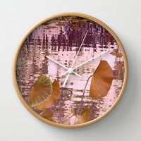 lotus dream (2) Wall Clock by Marianna Tankelevich