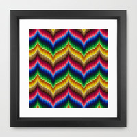 Bargello Impression 1 Framed Art Print by RVJ Designs