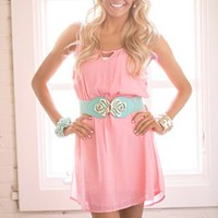 All Smiles Summer Dress Coral