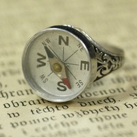 Compass Ring - &amp;#36;17.00 : RagTraderVintage.com, Vintage Reborn!