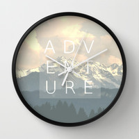 ADVENTURE Wall Clock by SUNLIGHT STUDIOS Monika Strigel