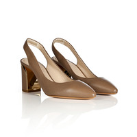 Chloé - Leather Blocky Heel Slingbacks