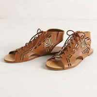 Winnima Lace-Up Sandals by Cynthia Vincent Cognac 7 Sandals