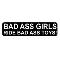 Bad Ass Girls Ride Bad Ass Toys Sticker