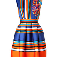 Alberta Ferretti - Striped Dress